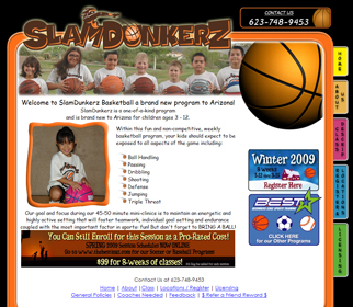 Professional Youth Sports Website Design Services Arizona