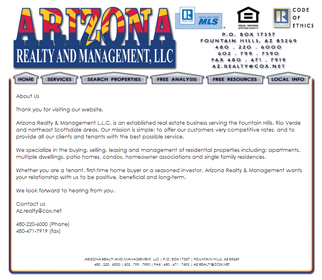 Professional Real Estate Management Website Design Services Arizona