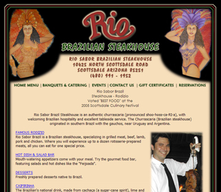 Professional Brazilian Steakhouse Website Design Services Arizona