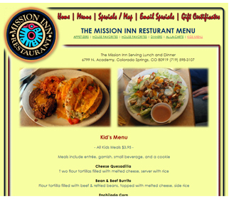 Professional Family Restaurant Website Design Services Arizona