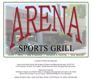Professional Sports Bar Website Design Services Arizona