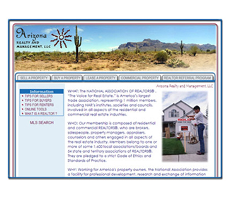 Professional Realtor Website Design Services Arizona