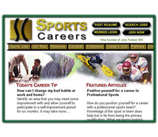 Professional Sport Careers Website Design Services Arizona