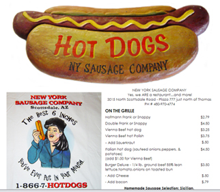 Professional Hot Dog Shop Website Design Services Arizona