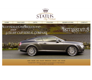 Professional Luxury Car Website Design Services Arizona
