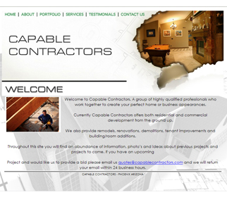 Professional Building Contractor Website Design Services Arizona