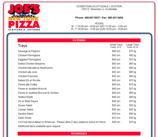 Professional Pizza Shop Website Design Services Arizona