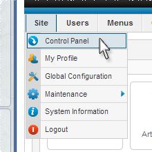 Joomla Installation Control Panel