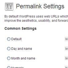 WordPress SEO Permalink Settings