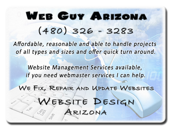 Professional Web Designer Arizona (480) 326 3283